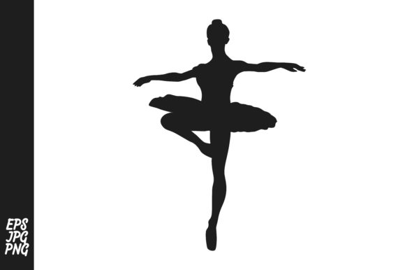 Print on Demand: The Silhouette of a Ballet Dancer Graphic Crafts By Arief Sapta Adjie - Image 1