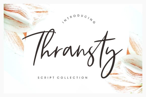 Print on Demand: Thransty Script & Handwritten Font By CreatypeStudio