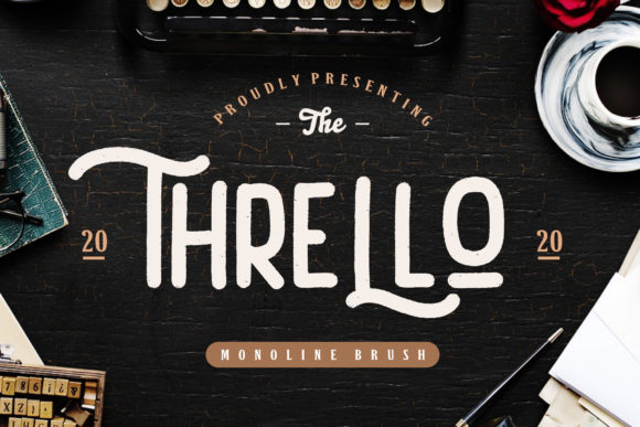Print on Demand: Thrello Sans Serif Font By CreatypeStudio
