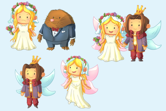 Print on Demand: Thumbelina Clip Art Collection Graphic Illustrations By Keepinitkawaiidesign - Image 4