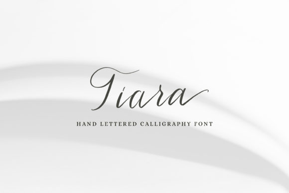 Print on Demand: Tiara Script & Handwritten Font By Primafox Design