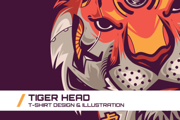 Download Free Tiger Head T Shirt Illustration Graphic By Dankudraw Creative for Cricut Explore, Silhouette and other cutting machines.