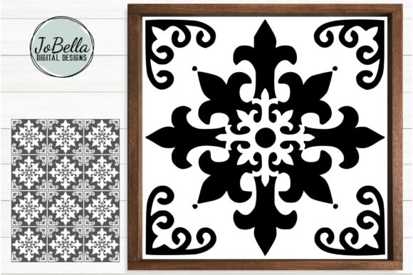 Download Free Tile Graphic By Jobella Digital Designs Creative Fabrica for Cricut Explore, Silhouette and other cutting machines.