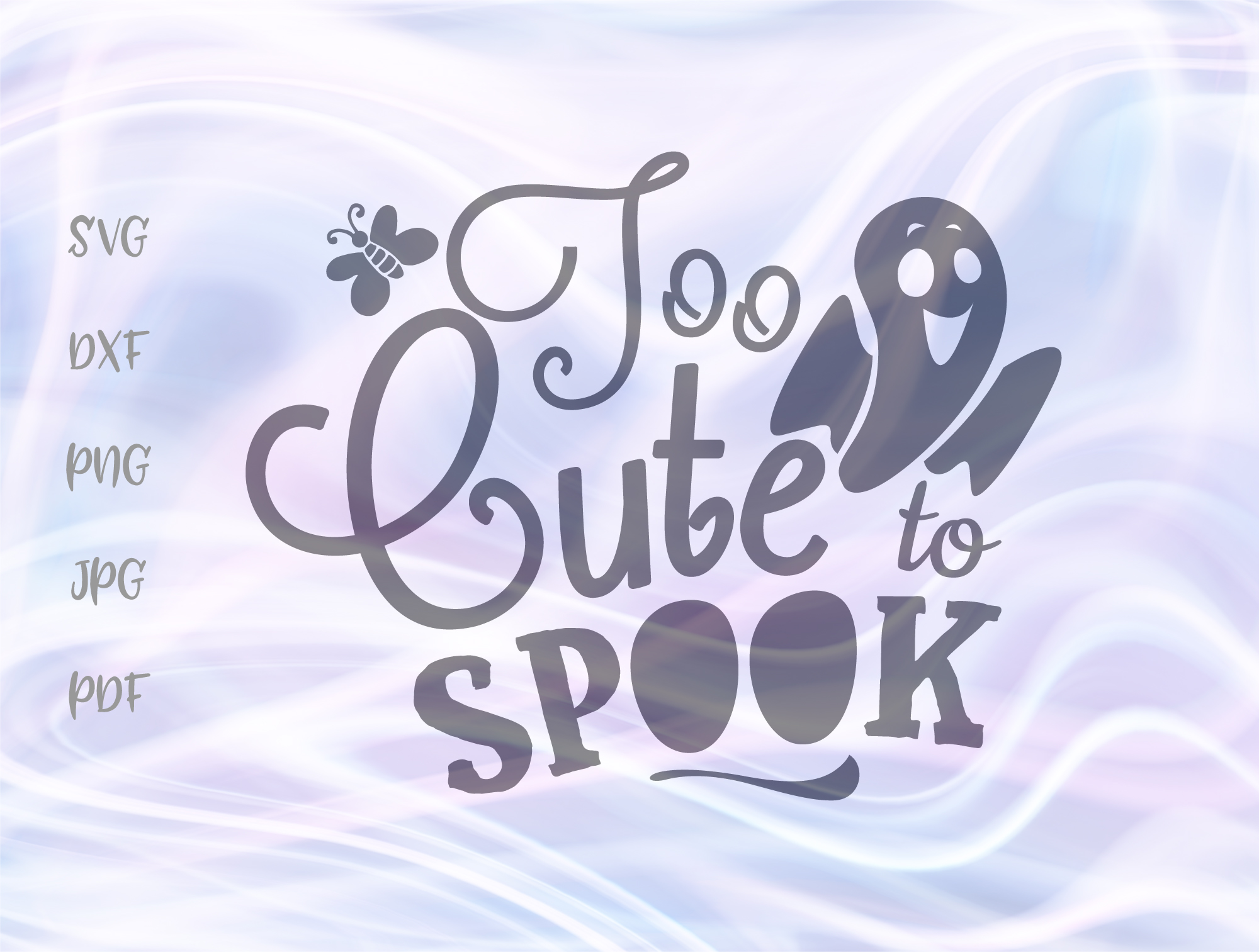 Too Cute To Spook Happy Halloween Sign Graphic By Digitals By