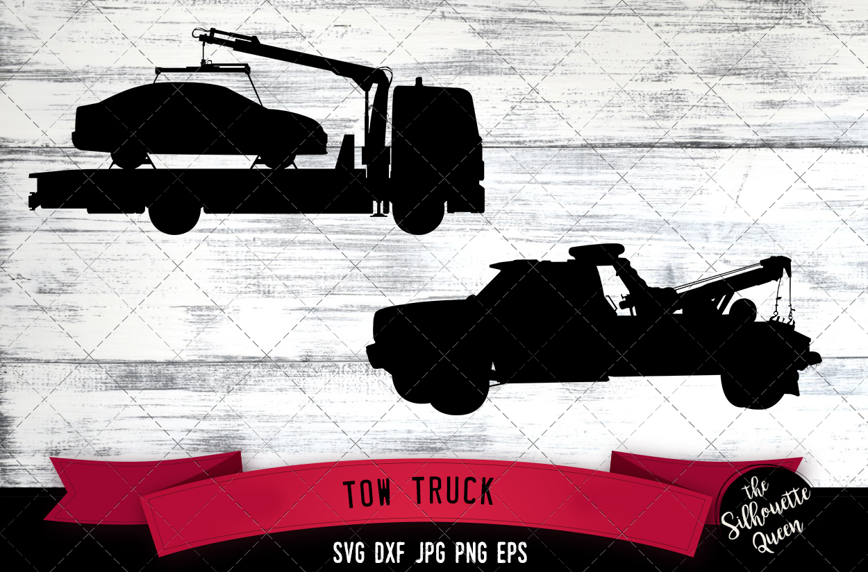 Download Free Tow Truck Graphic By Thesilhouettequeenshop Creative Fabrica for Cricut Explore, Silhouette and other cutting machines.