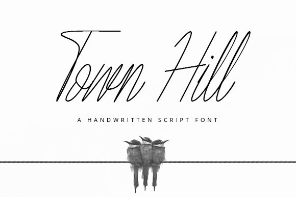 Print on Demand: Town Hill Script & Handwritten Font By Justlett