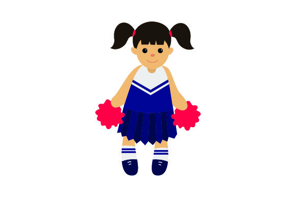 Download Free Toy Doll In Cheerleader Uniform Svg Cut File By Creative Fabrica for Cricut Explore, Silhouette and other cutting machines.
