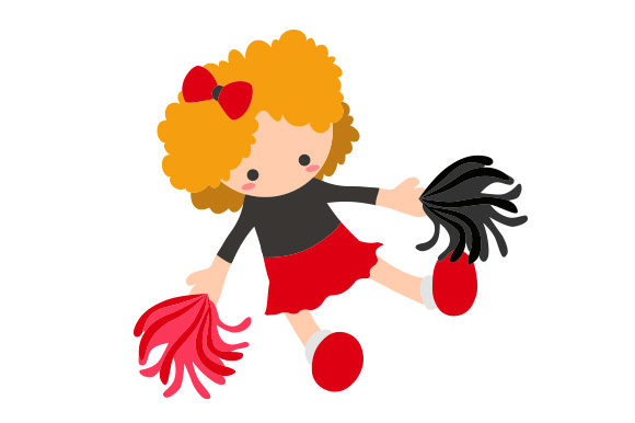 Download Free Toy Doll In Cheerleader Uniform Girl Svg Cut File By Creative for Cricut Explore, Silhouette and other cutting machines.