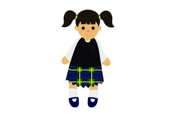 Download Free Toy Doll In School Uniform Svg Cut File By Creative Fabrica for Cricut Explore, Silhouette and other cutting machines.