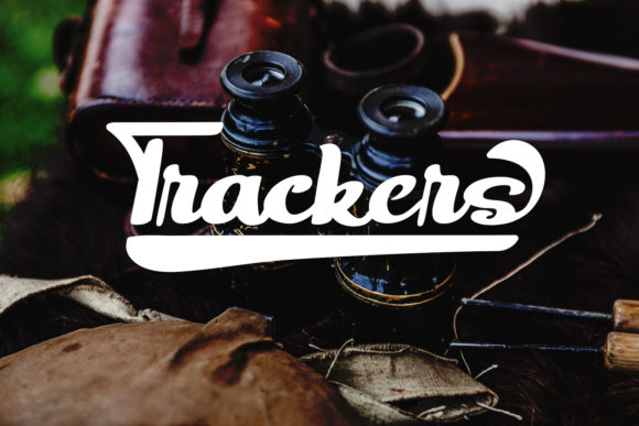 Print on Demand: Trackers Script & Handwritten Font By Naharstd