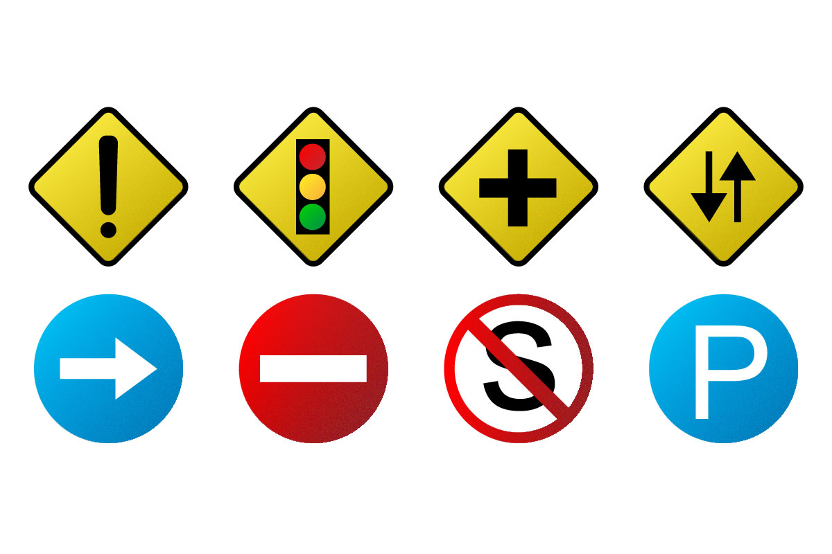 Download Free Traffic Signs Graphic By Qasas77 Creative Fabrica for Cricut Explore, Silhouette and other cutting machines.