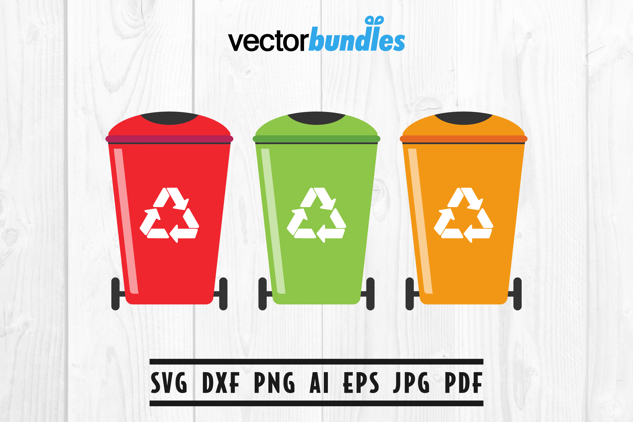 Download Free Trash Bin Clip Art Graphic By Vectorbundles Creative Fabrica for Cricut Explore, Silhouette and other cutting machines.
