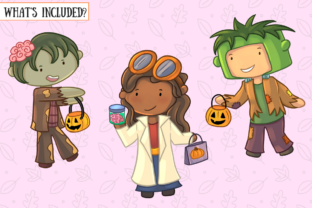 Print on Demand: Trick or Treat Clip Art Collection Graphic Illustrations By Keepinitkawaiidesign 2