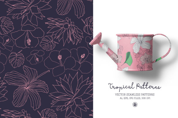Tropical Patterns Graphic Item