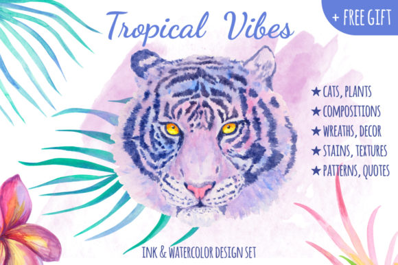 Print on Demand: Tropical Vibes Graphic Illustrations By annamagenta