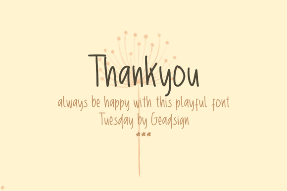 Tuesday Font By geadesign Image 4