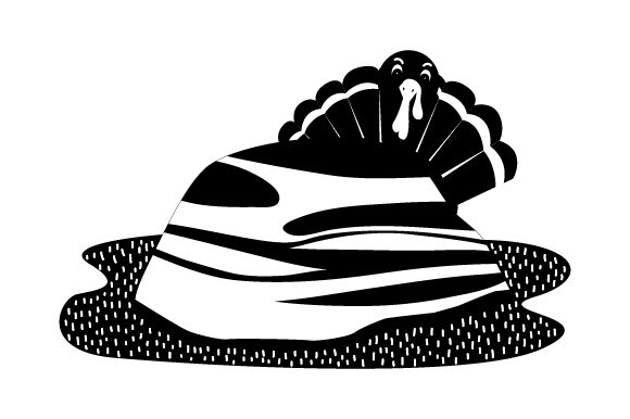 Download Free Turkey Hiding Behind Rock Peeking Head Out Svg Cut File By for Cricut Explore, Silhouette and other cutting machines.