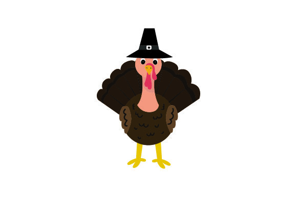 Download Free Turkey Wearing Pilgrim Hat Thanksgiving Svg Cut File By for Cricut Explore, Silhouette and other cutting machines.