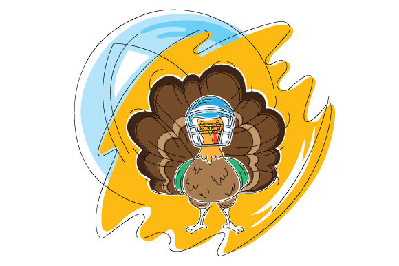 Download Free Turkey Wearing A Football Helmet In Abstract Style Svg Cut File for Cricut Explore, Silhouette and other cutting machines.