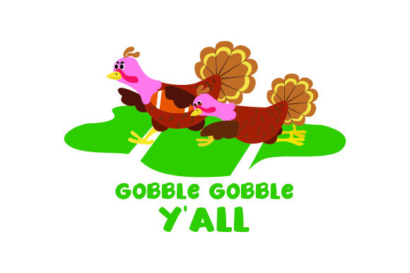 Turkeys Playing Football - Gobble Gobble Y'all Thanksgiving Craft Cut File By Creative Fabrica Crafts