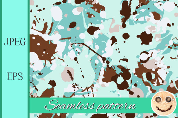 Turquoise Brown Camo Pattern