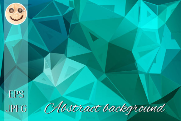 Print on Demand: Turquoise Green Random Background Graphic Illustrations By TasiPas