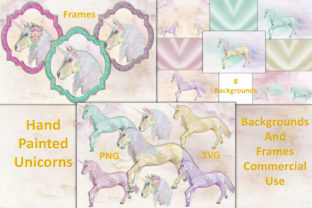 Unicorn Clipart and Backgrounds Graphic By The Paper Princess