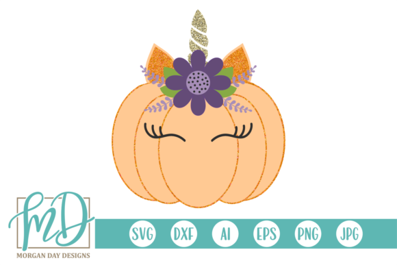 Unicorn Pumpkin Graphic Crafts By Morgan Day Designs