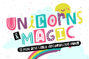 Unicorns & Magic Font By Reg Silva Art Shop