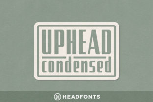 Uphead Condensed Font By Headfonts