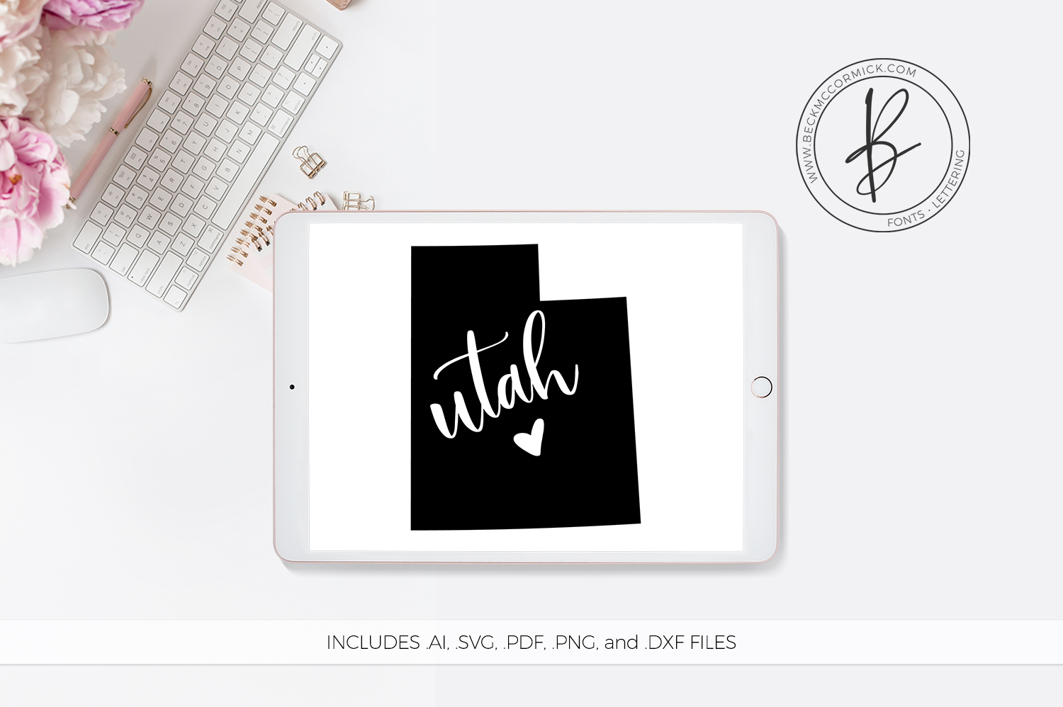 Download Free Utah Heart Graphic By Beckmccormick Creative Fabrica for Cricut Explore, Silhouette and other cutting machines.