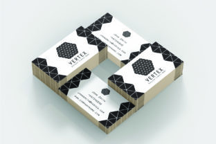 VERTEX: a Professional Business Card Graphic By denestudios