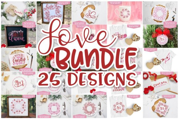 Print on Demand: Valentines Day Design Set - Love Bundle Gráfico Crafts Por Justina Tracy