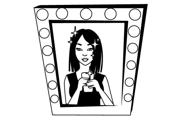 Download Free Vanity Mirror With Selfie Svg Plotterdatei Von Creative Fabrica for Cricut Explore, Silhouette and other cutting machines.