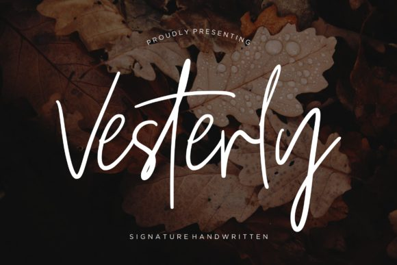 Print on Demand: Vesterly Script & Handwritten Font By CreatypeStudio