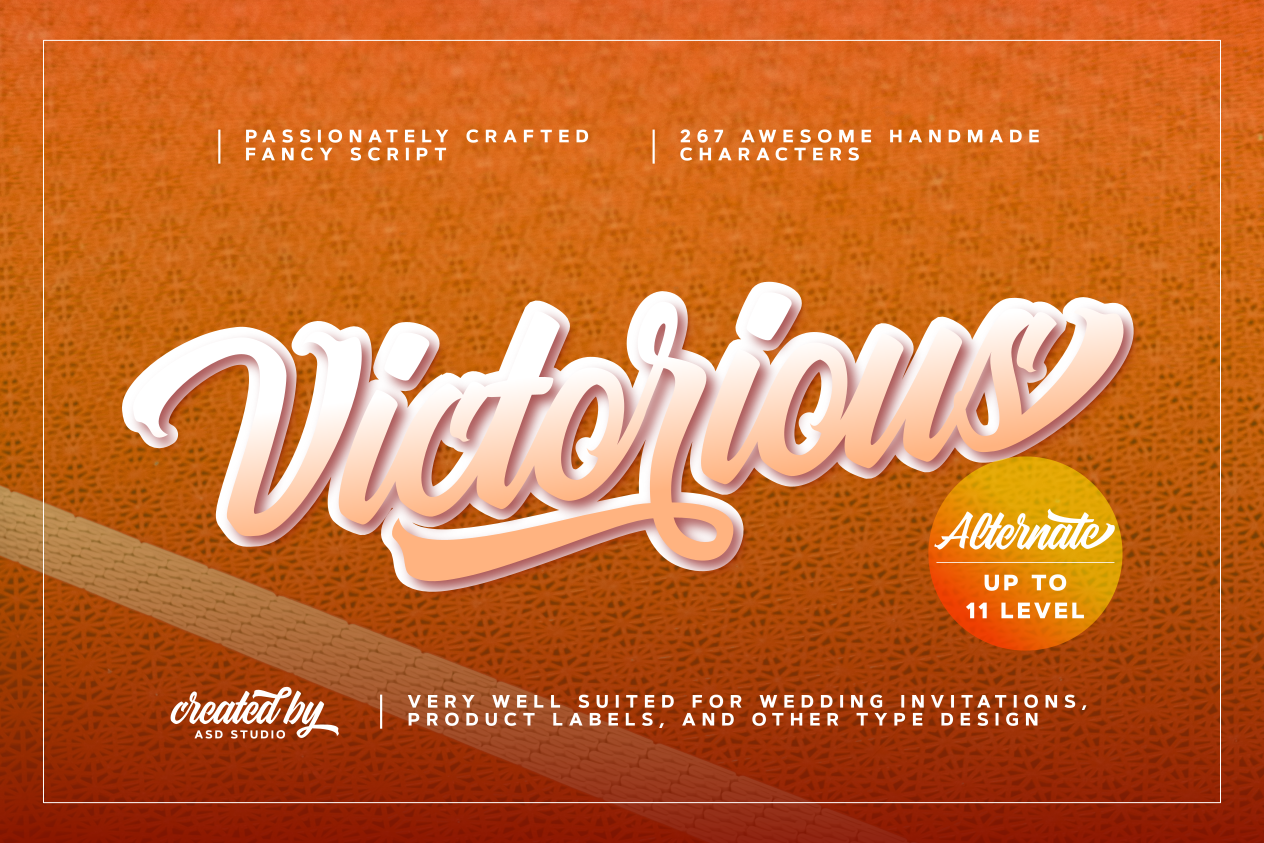 Download Free Victorious Font By Asd Studio Creative Fabrica for Cricut Explore, Silhouette and other cutting machines.