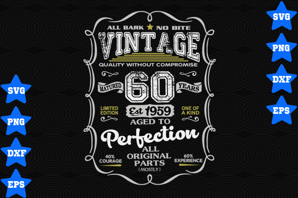 Download Free Vintage 1959 Quality Without Compromise Graphic By Awesomedesign for Cricut Explore, Silhouette and other cutting machines.