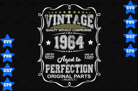 Vintage 1964 Aged To Perfection Graphic By Awesomedesign