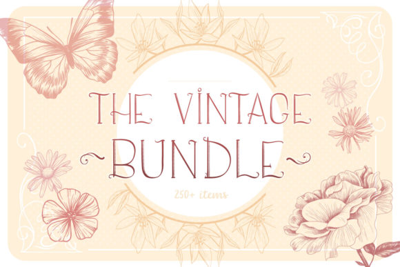 Download Free Vintage Bundle 250 Vector Svg Items Graphic By Tatiana for Cricut Explore, Silhouette and other cutting machines.