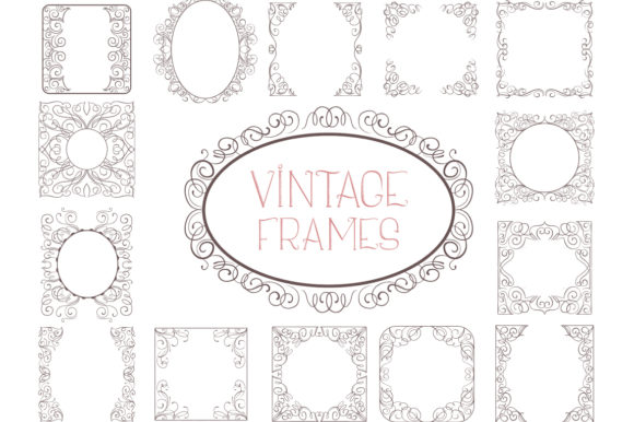Print on Demand: Vintage Bundle- 250 Items Graphic Objects By tatiana.cociorva - Image 13