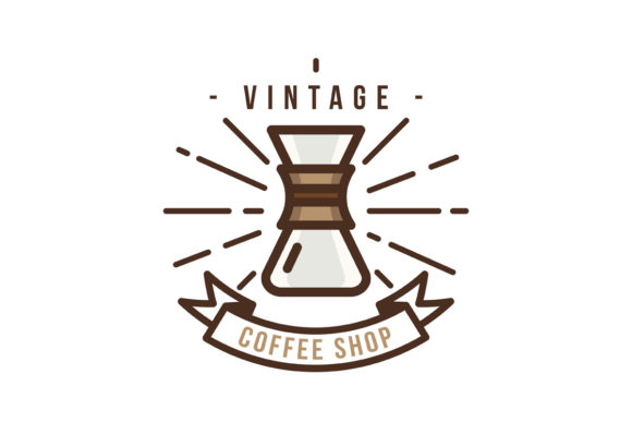 Download Free Vintage Coffee Shop Logo Graphic By Djankrixz Studio Creative Fabrica for Cricut Explore, Silhouette and other cutting machines.