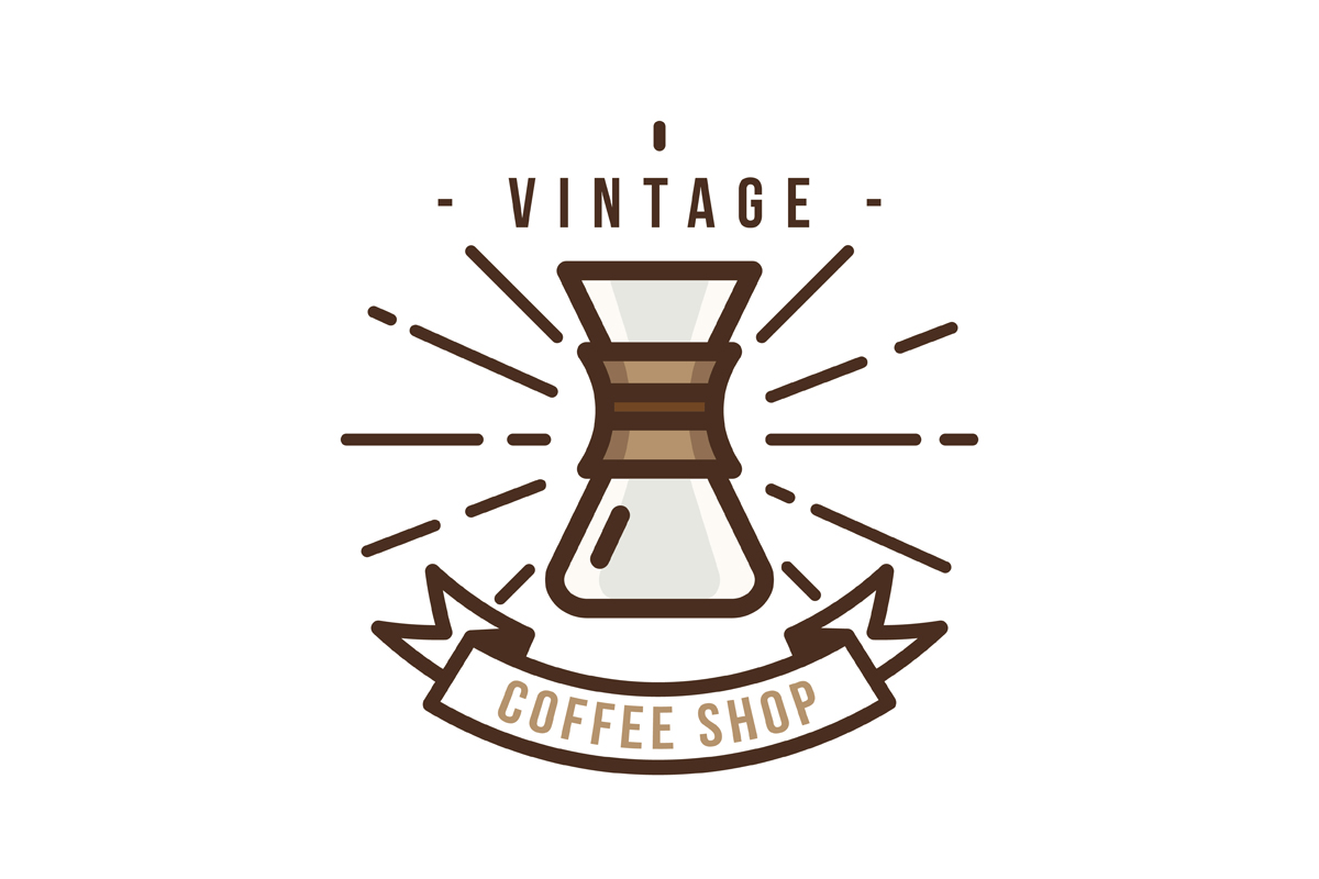 Download Free Vintage Coffee Shop Logo Graphic By Djankrixz Studio Creative for Cricut Explore, Silhouette and other cutting machines.