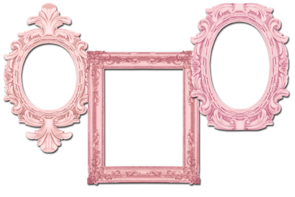 Print on Demand: Vintage Pink Frames Graphic Illustrations By retrowalldecor - Image 2