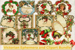 Vintage Victorian Ephemera and Clipart Graphic By The Paper Princess
