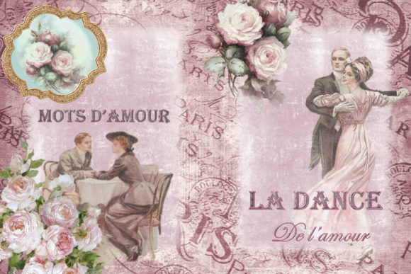 Print on Demand: Vintage Victorian Journal Scrapbook Kit Graphic Crafts By The Paper Princess - Image 2