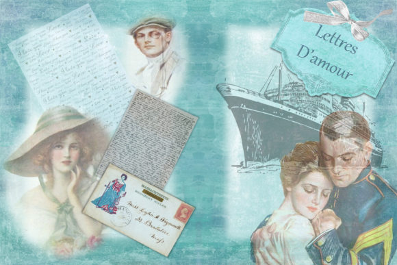 Print on Demand: Vintage Victorian Journal Scrapbook Kit Graphic Crafts By The Paper Princess - Image 3