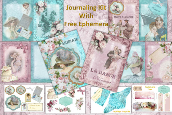 Print on Demand: Vintage Victorian Journal Scrapbook Kit Graphic Crafts By The Paper Princess