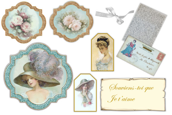 Print on Demand: Vintage Victorian Journal Scrapbook Kit Graphic Crafts By The Paper Princess - Image 8