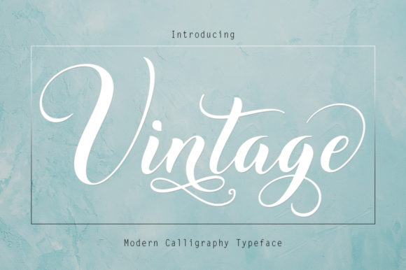 Print on Demand: Vintage Script & Handwritten Font By Rudistudio