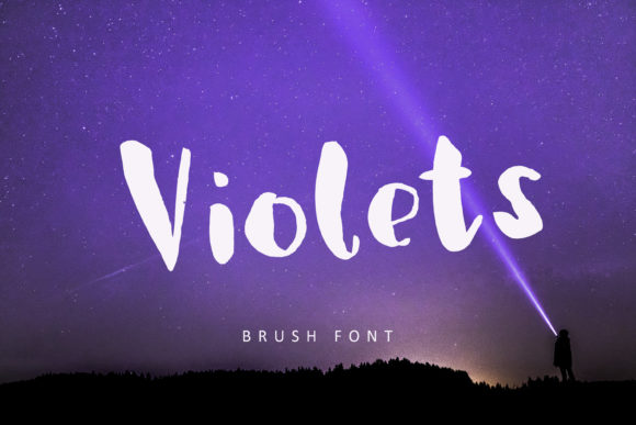 Print on Demand: Violets Display Font By Primafox Design